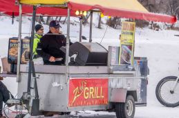 warm and cold: hotdog stand
